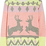 Stella McCartney's Reindeer Wool-Blend Sweater ($1,230) gives you the benefit of a holiday print without the cliché color combo.