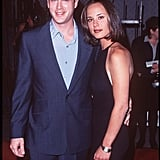 Cary Elwes and Lisa Marie at the Liar, Liar Premiere in 1997