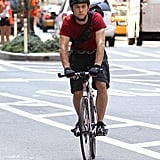 In August 2010, Joseph Gordon-Levitt rode a fixed-gear bike while filming Premium Rush in NYC.