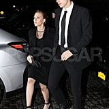 Scarlett Johansson and Hunter Johansson hung out in NYC.