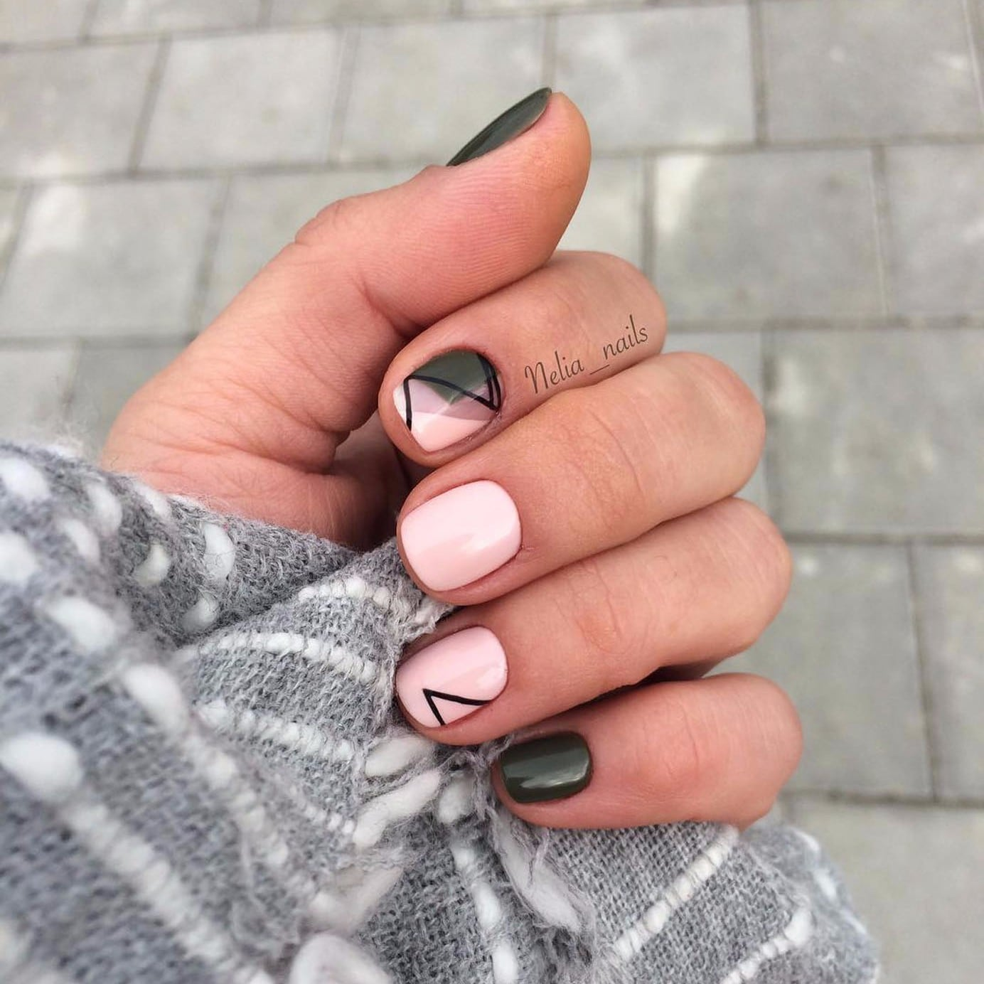 - Geometric Nail Art POPSUGAR Beauty UK