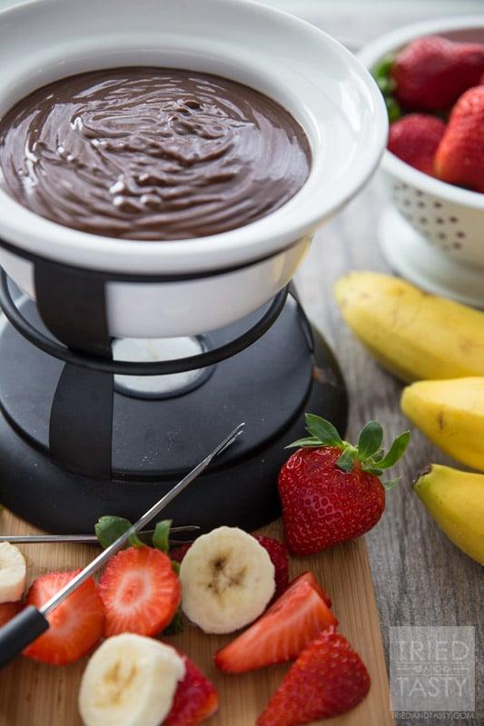 3-Ingredient Chocolate Peanut Butter Fondue