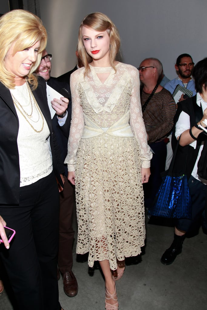 Taylor Swift at Fashion Week.