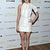 Emma Watson in White Brood Look at 2012 The Perks of Being a Wallflower NYC Screening