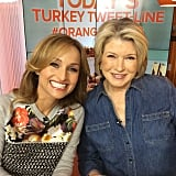Martha Stewart and Giada De Laurentiis posed together during a cooking segment on the Today show.