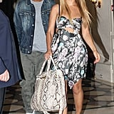 The couple exited Le Meurice hotel in Paris in 2011, Beyoncé in a flirty floral cutout dress and Jay Z in a denim jacket and army-green pants.