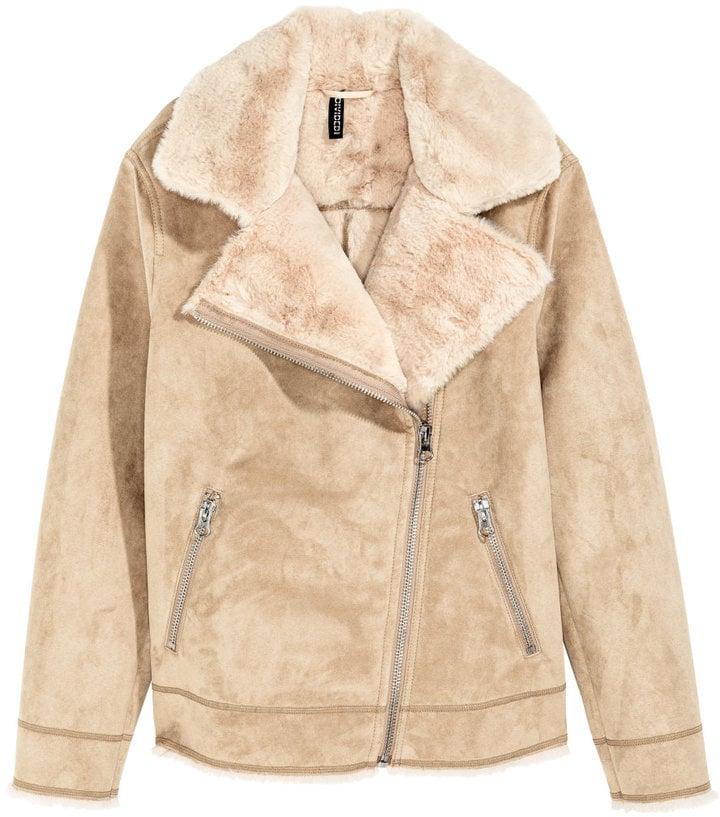 H&M Faux Fur-Lined Biker Jacket ($50)