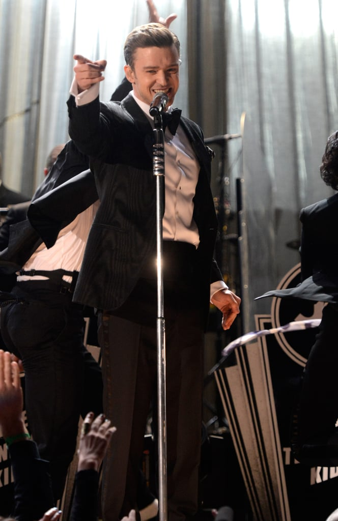 "Justin Timberlake performed ""Suit and Tie"" at the Grammys."