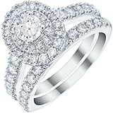 Platinum 1.5ct Diamond Double Halo Bridal Set