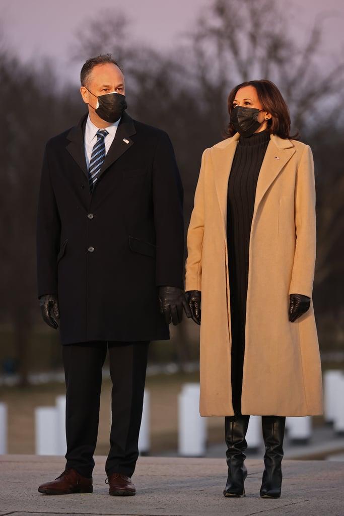 The Meaning Behind Kamala Harris's Coat at COVID-19 Memorial