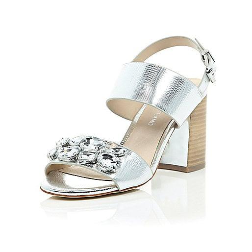 River Island Jewel Embellished Sandals ($100)