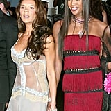 At the 2003 Met Gala, Victoria Beckham held hands with Naomi Campbell.