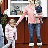 Jennifer Garner had a cute moment with Samuel and Seraphina.