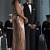 Barack and Michelle Obama at Last State Dinner October 2016