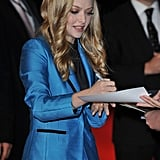 Amanda Seyfried at the UK premiere of In Time.