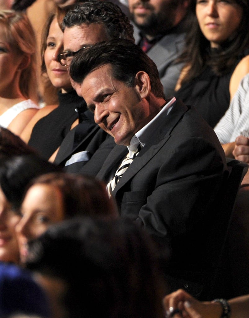 Charlie Sheen was seated in the audience.