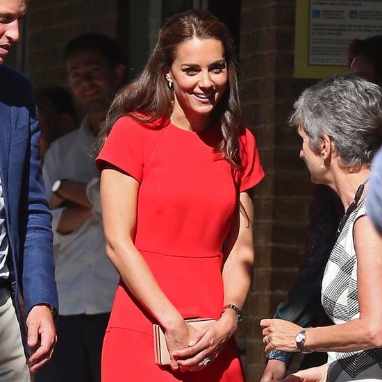 Duchess Kate Wearing a Red LK Bennett Dress August 2016
