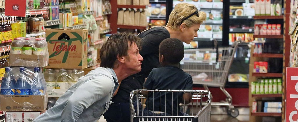 Charlize Theron and Sean Penn With Jackson at Whole Foods