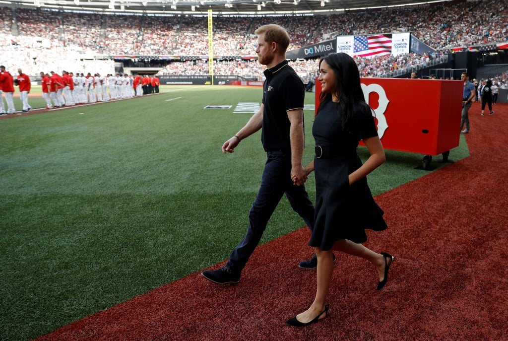 Prince Harry and Meghan Markle at MLB Game Pictures 2019