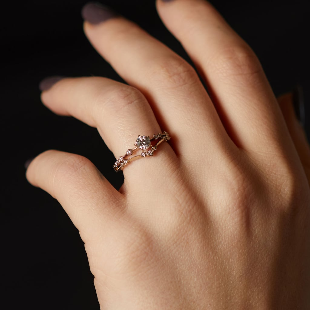 New Moon Solitaire Ring