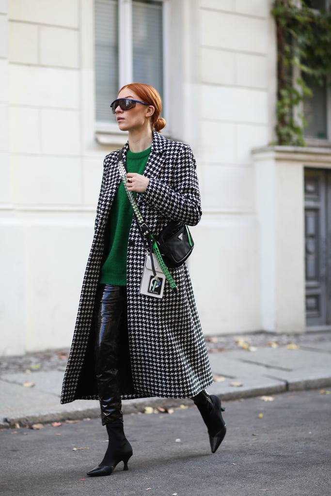 Wear Your Leather Pants With an Oversize Sweater and Sock Booties