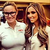 "Charlotte Dawson was in her ""daggy running gear"" when she bumped into Giuliana Rancic. Source: Instagram user mscharlotted"