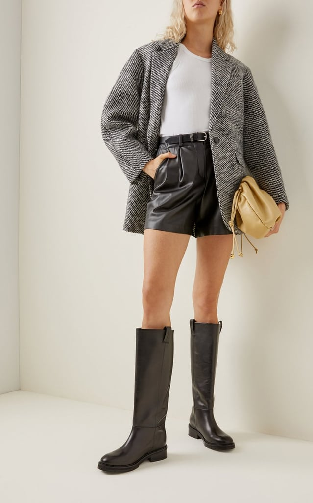 Frances Leather Knee High Boots by Flattered