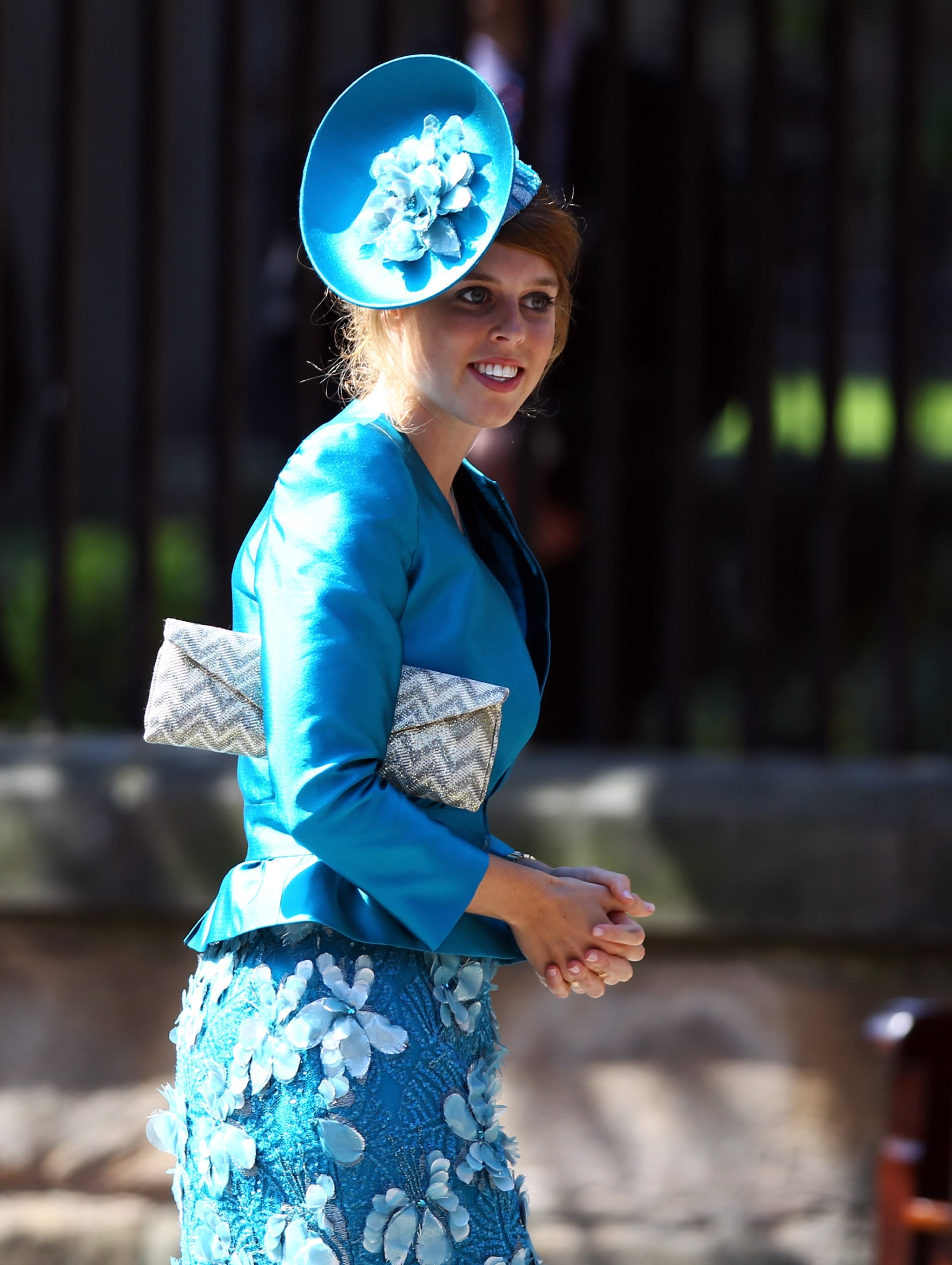Princess Beatrice at Zara Phillips and Mike Tindall's wedding.