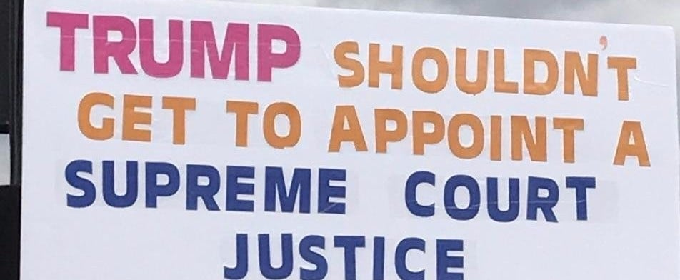Neil Gorsuch Protest Sign