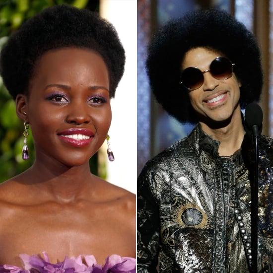 Lupita Nyong'o's and Prince's Afros at the Golden Globes