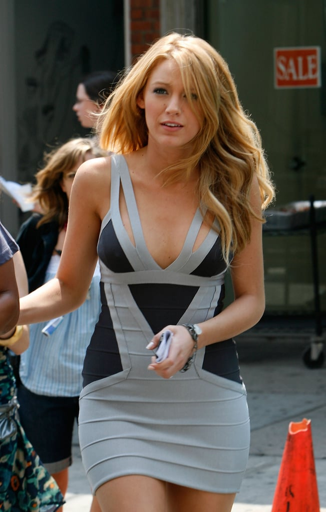 Blake Lively wore a skintight dress in NYC in July 2008.