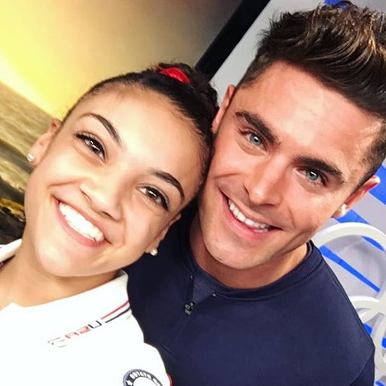 Laurie Hernandez and Zac Efron Instagram Pictures
