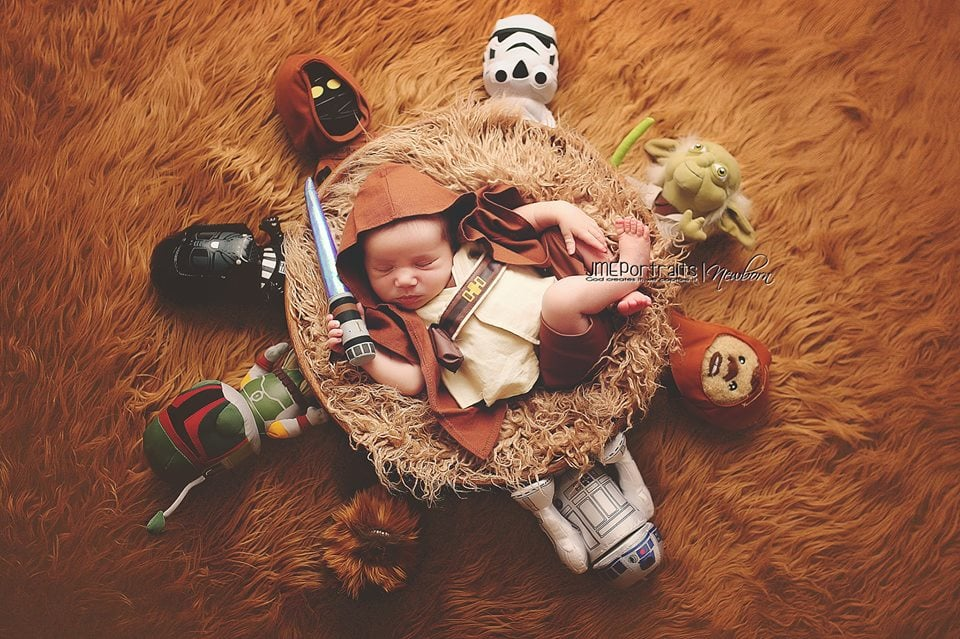 Surrounded by the force this young Padawan is