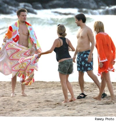 Leo and Tobey in Hawaii