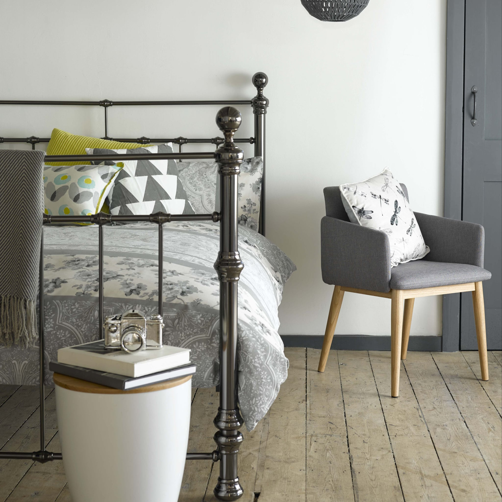 Glass Top Geometric Side Table George At Asda Home