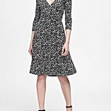 Banana Republic Printed Soft Ponte Wrap Dress