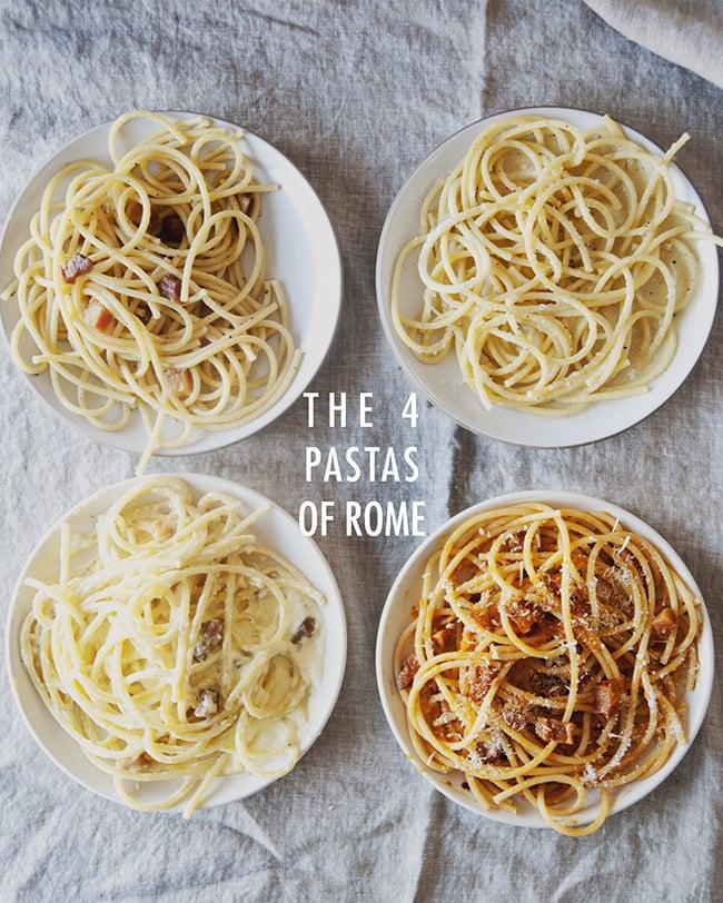 The four pastas of rome popsugar food forumfinder Images
