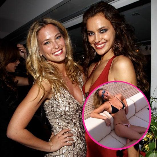 Bar Refaeli Lays Out in Her Bikini Postpartying With Irina Shayk