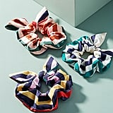 Anthropologie Striped Chiffon Pony Holder Set