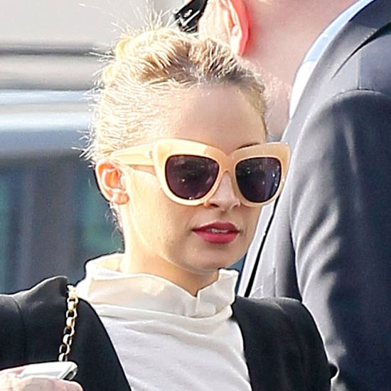Pictures of Nicole Richie Stopping For Lunch During Her Trip to Paris Fashion Week