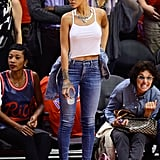 We Never Knew You Could Dress Up Jeans and a Tank Top Like This, Rihanna