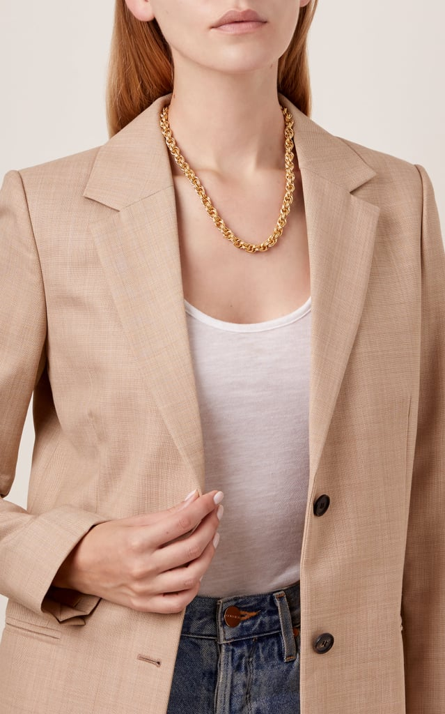 Steal: Chain Reaction 24k Gold-Plated Necklace by Brinker & Eliza