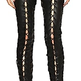 Unravel Lace Up Leather Pants