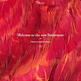The new welcome page, including J.K. Rowling's handwritten Pottermore logo.