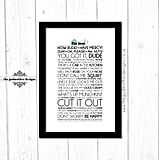 Quote Poster ($13)