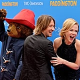 Nicole and Keith cracked up in January 2015 when they shared the red carpet in LA with Paddington himself.