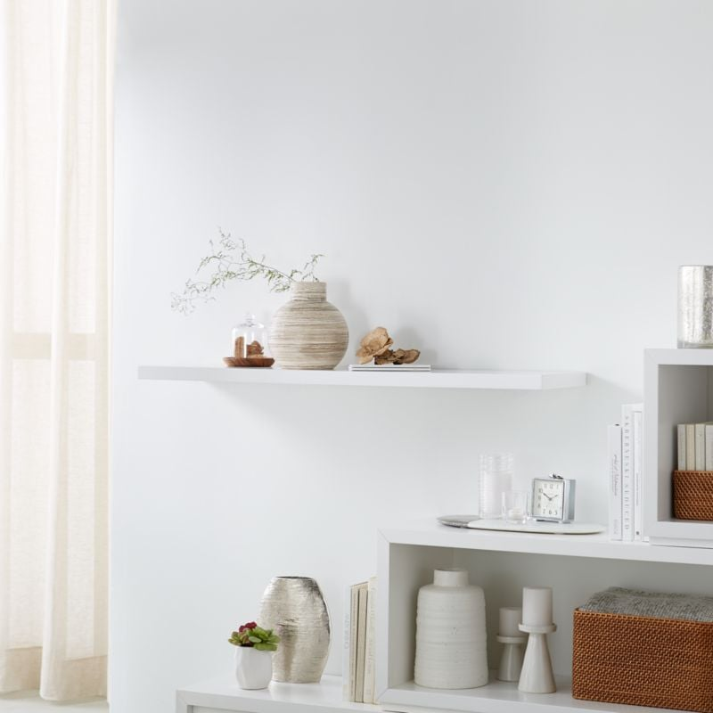 Celeste: Aspect White Floating Wall Shelf
