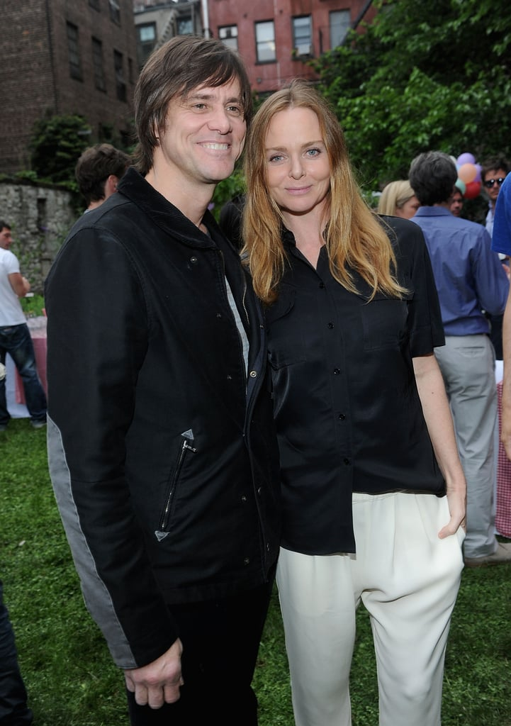 Jim Carrey posed with Stella McCartney at her Spring presentation in NYC.