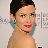 Emily Blunt wore green earrings with a Jason Wu number to the Five-Year Engagement premiere during the 2012 Tribeca Film Festival.