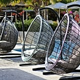 Eeny, meeny, miny, moe! All of the swinging chairs are equally as Instagram-worthy.